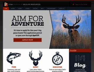 wildlife.utah.gov screenshot