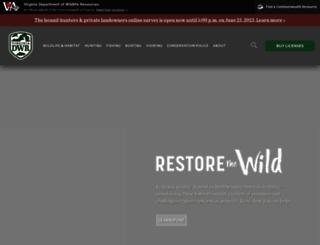 wildlife.virginia.gov screenshot
