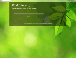 wildlife24x7.blogspot.com screenshot