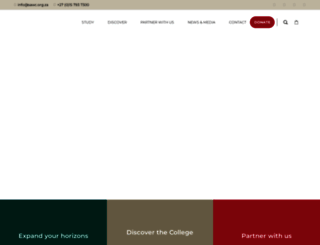 wildlifecollege.org.za screenshot