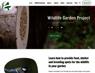 wildlifegardenproject.com screenshot
