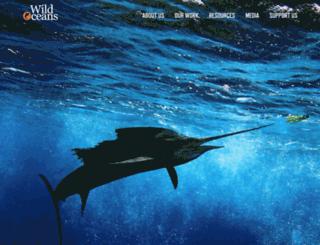wildoceans.org screenshot