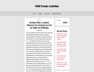 wildtracksactivities.co.uk screenshot