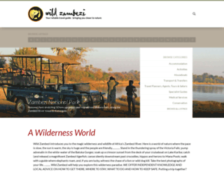 wildzambezi.com screenshot