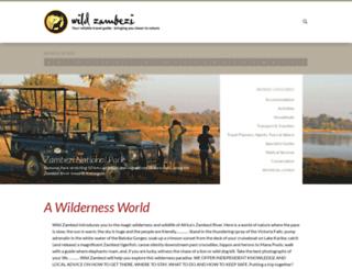 wildzambezi.com screenshot