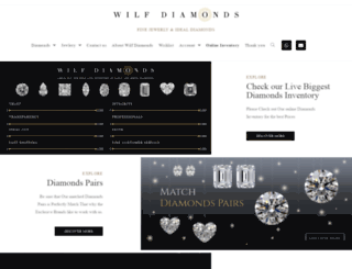 wilfdiamonds.com screenshot