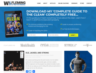 wilfleming.com screenshot
