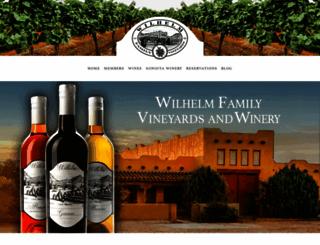 wilhelmvineyards.com screenshot
