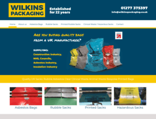 wilkinspackaging.co.uk screenshot