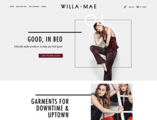 willa-and-mae.myshopify.com screenshot