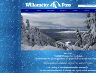 willamettepass.com screenshot