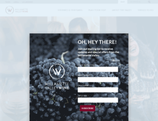 willamettewines.com screenshot