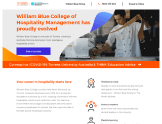 williamblue.edu.au screenshot