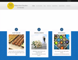 williamdeanchocolates.com screenshot