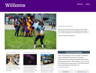 williams.edu screenshot