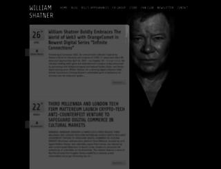 williamshatner.com screenshot