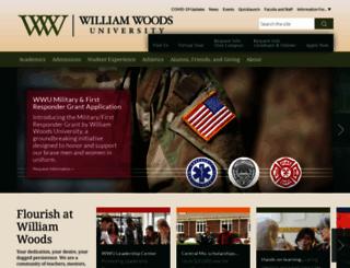williamwoods.edu screenshot