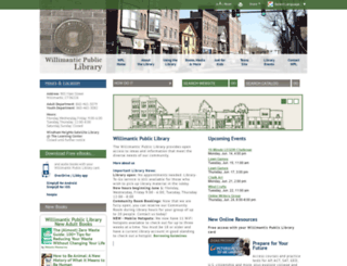 willimanticlibrary.org screenshot