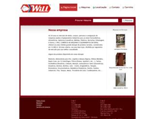 willmaquinas.com.br screenshot