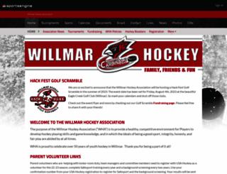 willmarhockey.pucksystems.com screenshot