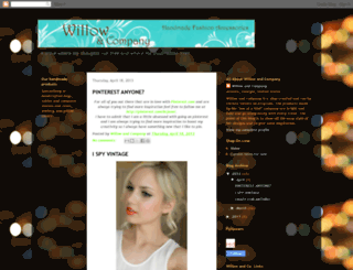willowandcompany.blogspot.com screenshot