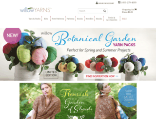 willowyarns.com screenshot