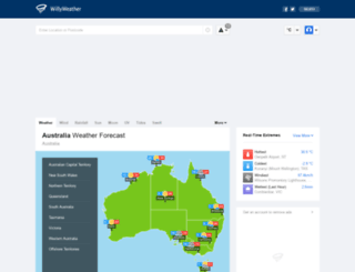 willyweather.com.au screenshot