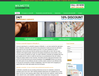 wilmettelocksmiths.biz screenshot