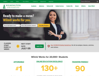 wilmu.edu screenshot