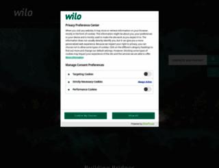 wilo.com screenshot
