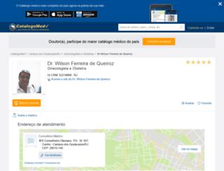 wilson-ferreira-de-queiroz.catalogo.med.br screenshot