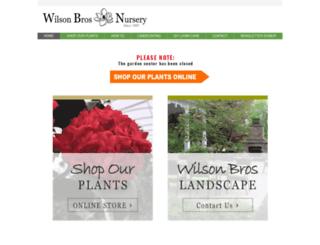 wilsonbrosnursery.com screenshot