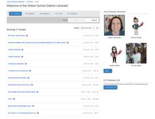 wilsonsd.libguides.com screenshot