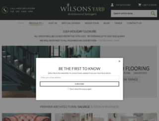 wilsonsyard.com screenshot