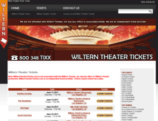 wilterntheatertickets.com screenshot
