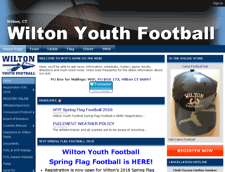 wiltonyouthfootball.org screenshot