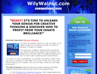 wilywalnut.com screenshot