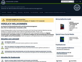 wim.uni-koeln.de screenshot