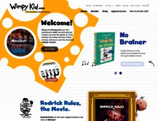 wimpykid.com screenshot