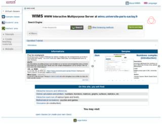 wims.u-psud.fr screenshot