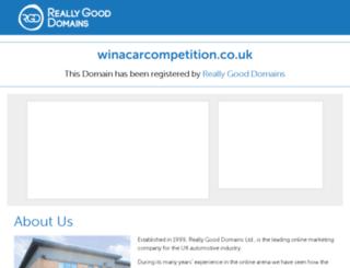winacarcompetition.co.uk screenshot