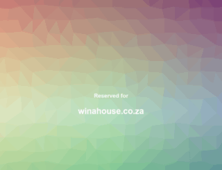 winahouse.co.za screenshot