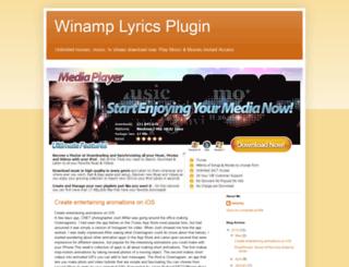 winamp-lyrics-plugin.blogspot.com screenshot