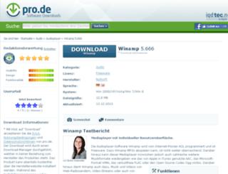 winamp.pro.de screenshot