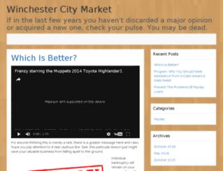 winchestercitymarket.com screenshot