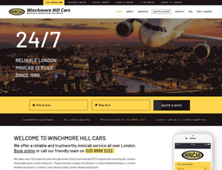 winchmorehillcars.co.uk screenshot