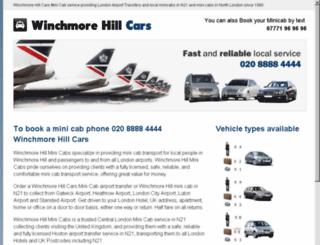 winchmorehillcars.com screenshot