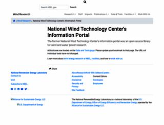wind.nrel.gov screenshot