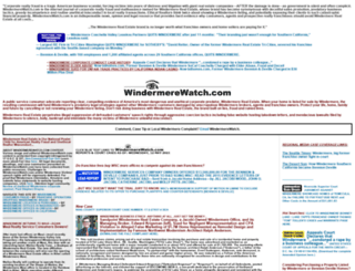 windermerewatch.com screenshot