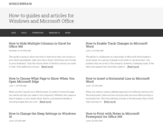 windowbrain.com screenshot